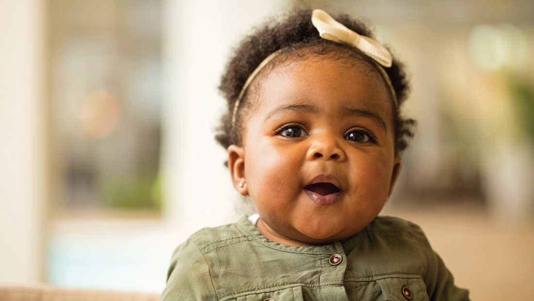 Adorable african american baby girl